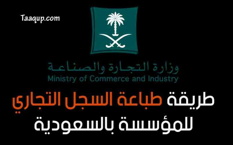 طريقة طباعة السجل التجاري للمؤسسة عبر وزارة التجارة السعودية